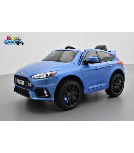 Ford Focus RS MK3 Bleu Nitrous Pack Performance, voiture électrique pour enfant 12 volts