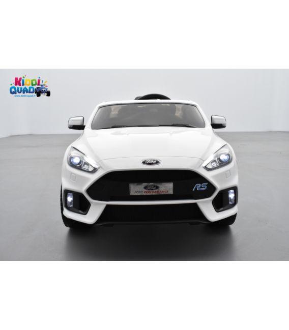 Ford Focus RS MK3 Blanc Pack Performance, voiture électrique pour enfant 12 volts