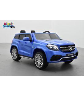 Mercedes GLS 63 4Matic AMG Bleu, voiture électrique pour enfant, 12Volts - 4 moteurs