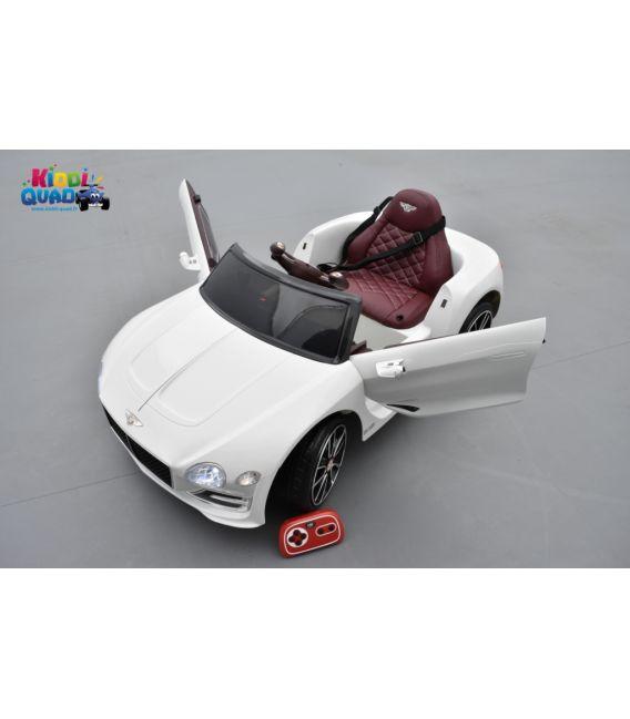 Bentley Expérimental Blanc, Voiture électrique pour enfant, 12Volts - 2 moteurs