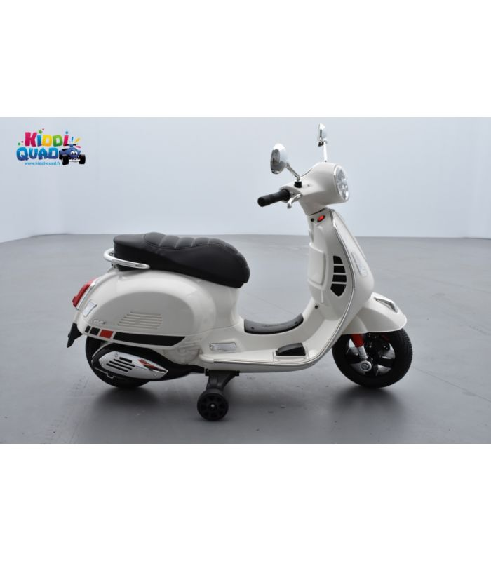scooter vespa blanc lectrique pour enfant 12v 7ah kiddi quad. Black Bedroom Furniture Sets. Home Design Ideas