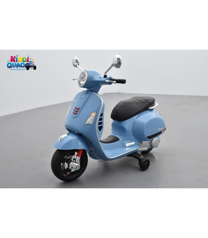 7747c6bf337b5 Scooter Vespa Bleu électrique pour enfant 12V - 7AH - Kiddi-Quad