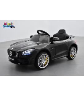 Mercedes AMG GT R Noir Métallisée, voiture électrique pour enfant, 12V, 2 moteurs