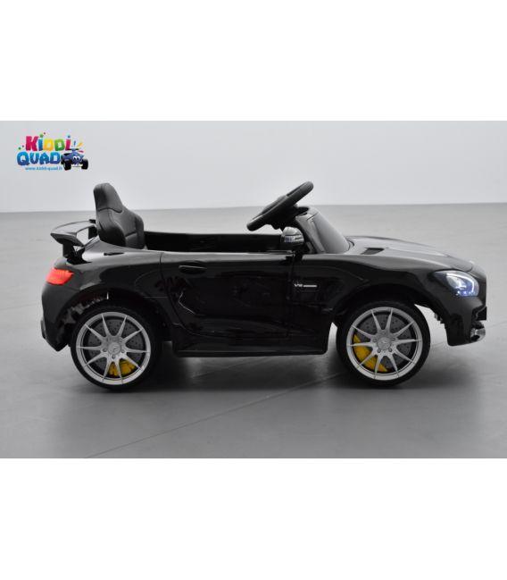 Mercedes AMG GT R Noir Métallisée, voiture électrique pour enfant, 12V7AH - 2 moteurs