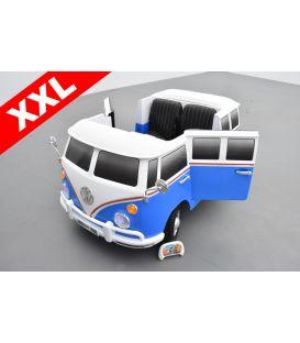 Volkswagen Combi Van 2 places Bleu Reef, voiture électrique pour enfant 12 volts
