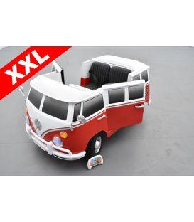 Volkswagen Combi Van 2 places Rouge Montana, voiture électrique pour enfant 12 volts