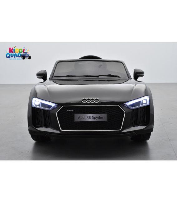 Audi R8 Spyder S Tronic 12 volts Noir Mamba, voiture electrique enfant télécommande parentale 2.4 GHZ, 12 volts, 2 moteurs