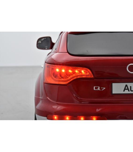 Audi Q7 Luxe Rouge métallisée, voiture électrique enfant, 12 Volts