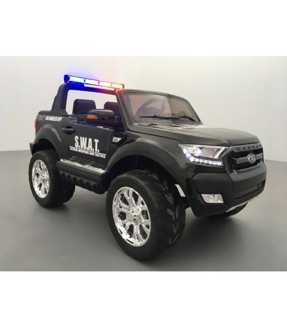 Ford Ranger S.W.A.T. feux de patrouille sirène mégaphone 2 x 12 volts avec télécommande parentale 2.4 GHz
