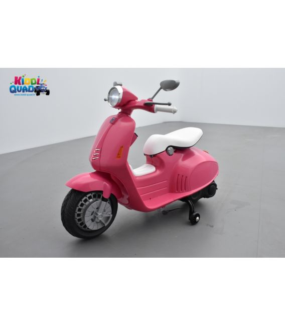 scooter rose lectrique pour enfant 12 volts kiddi quad. Black Bedroom Furniture Sets. Home Design Ideas
