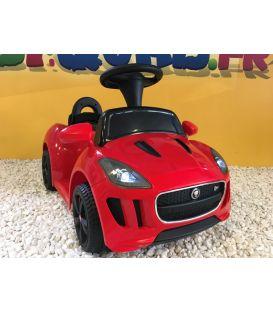 Trotteur voiture Jaguar F-type rouge, porteur pousseur voiture sans télécommande