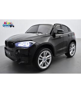BMW X6 M Noir Métallisée 2 places, voiture électrique enfant , 12 volts - 10AH, 2 moteurs