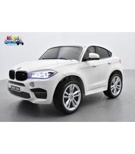 BMW X6 M Blanc 2 places, voiture électrique enfant , 12 volts - 10AH, 2 moteurs