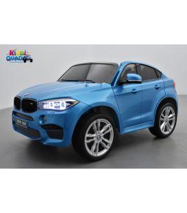 BMW X6 M Bleu Métallisée, 2 places, voiture électrique enfant , 12 volts - 10AH, 2 moteurs