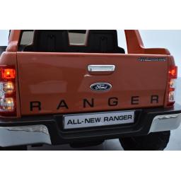 Ford Ranger Version Luxe orange métallisé avec télécommande parentale 2.4 GHz, voiture électrique pour enfant 2 places, 12 Volts