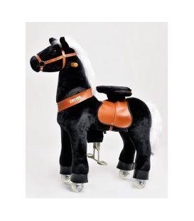PonyCycle Noir, cheval à roulettes enfant 2 à 4 ans