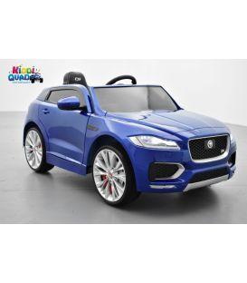 Jaguar F-Pace S Caesium Blue Métallisé, voiture électrique pour enfant 12 volts - 2 moteurs