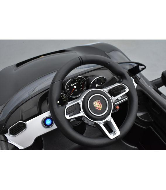 Porsche 918 Spyder Noir 12 volts , voiture électrique pour enfant avec télécommande parentale 2.4 GHz