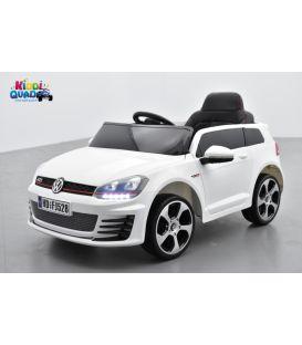 Volkswagen Golf GTI Performance Blanc Oryx, 12 volts, voiture électrique pour enfant
